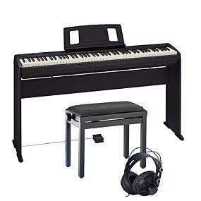 Roland FP-10 Komplett Uppsättning m Stativ KSC-10, Pianobänk samt Hörlurar