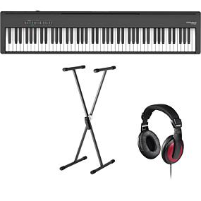 Roland FP-30X Svart Digital Piano + Stativ (SKS 01) + Hörlurar (Hama)