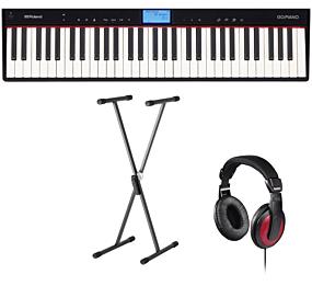 Roland GO:PIANO (GO-61P) + Stativ (SKS 01) + Hörlurar (Hama)