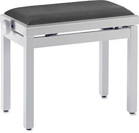 Pianopall i blank vit färg