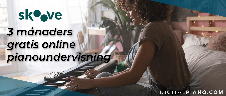 3 månaders gratis online pianoundervisning!