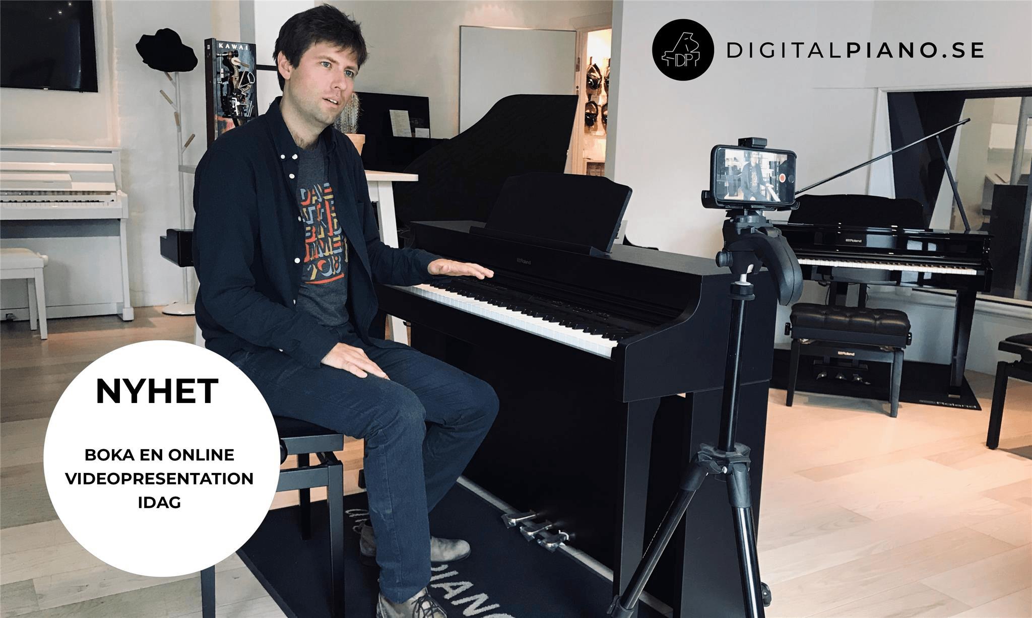Boka en online videopresentation av digitalpianon